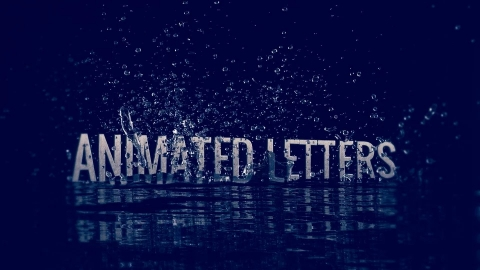 Animated Letters – Water Splash